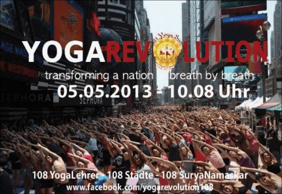 Yoga Revolution: 108 Yogalehrer – 108 Städte –108 Surya Namaskar