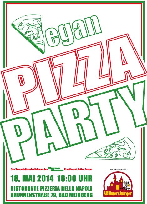 Vegan Pizza Party am 18.5. um 18h